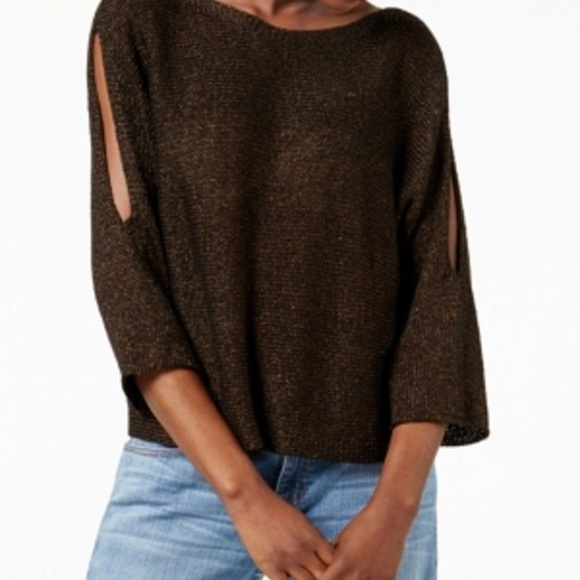 823f24da793 Eileen Fisher Sweaters - Eileen Fisher Bronze Knit Open Sleeve Sweater Top